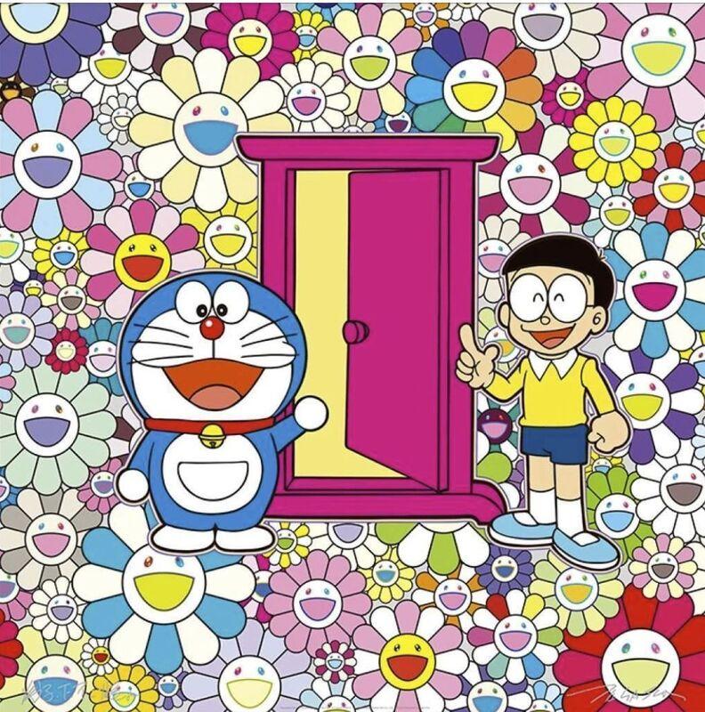 Takashi Murakami, 'Anywhere Door (Dokodemo Door) in the field of flowers', 2018, Print, Offset print, Lougher Contemporary