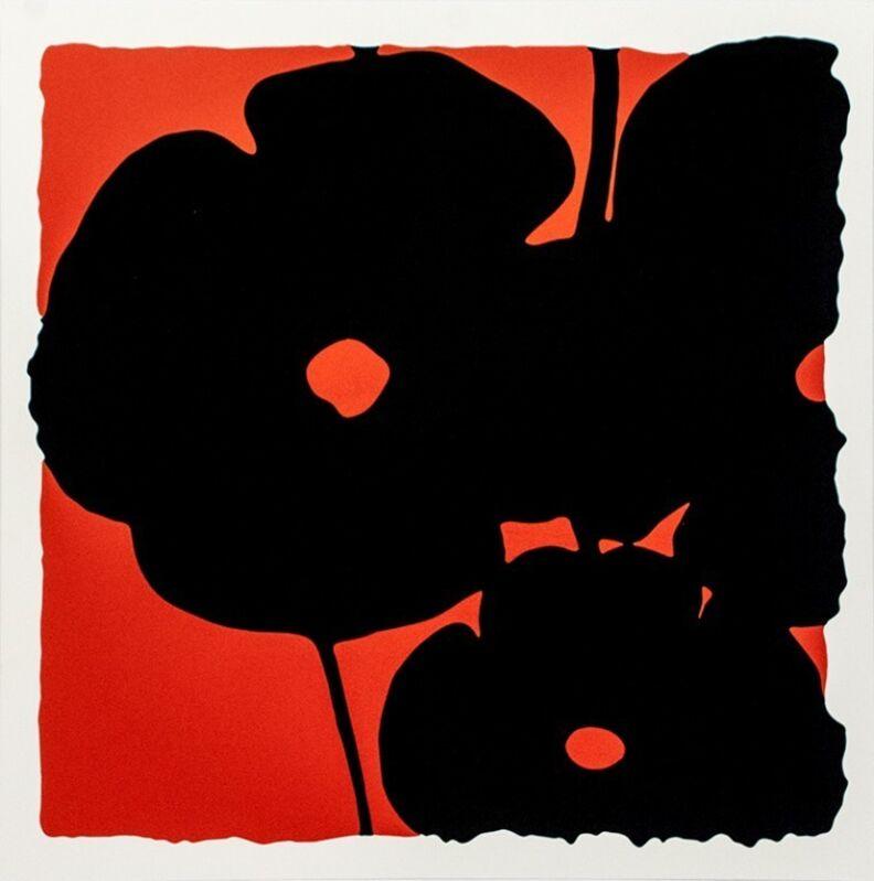 Donald Sultan, 'Red Reversal Poppies', 2015, Print, Silkscreen with flocking, Vertu Fine Art