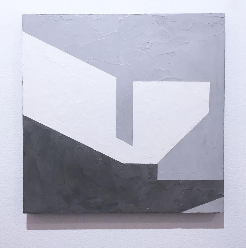 Kati Vilim, 'Balancing IV', 2019, Painting, Plaster and acrylic on wood panel, Deep Space Gallery