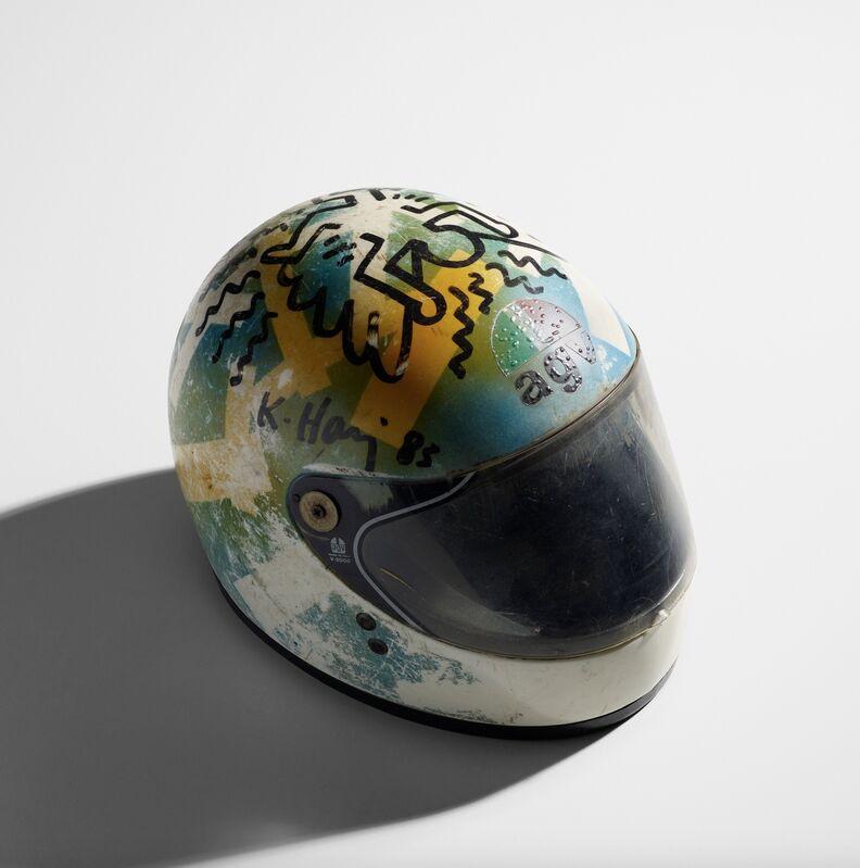 Keith Haring, 'Untitled ('Guardian Angel')', 1983, Painting, Black marker pen, motorcycle helmet, Artificial Gallery