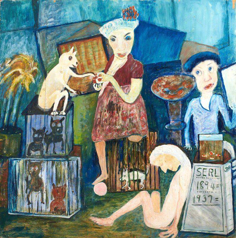 Jon Serl, 'Serl's Headstone', 1979, Painting, Rago/Wright