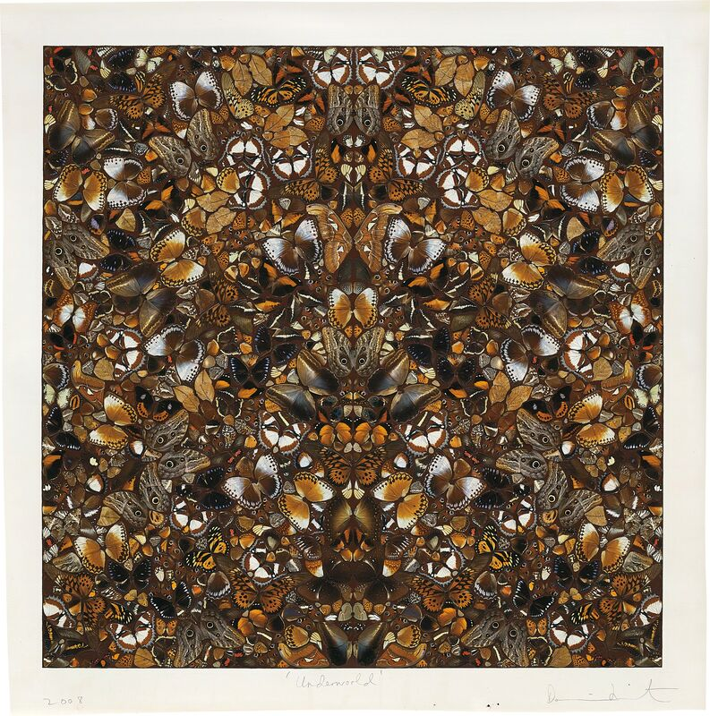 Damien Hirst, 'Underworld', 2008, Mixed Media, Butterflies and household gloss on paper, Phillips