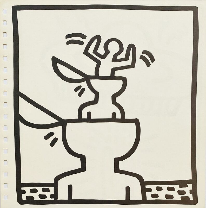 Keith Haring, 'Keith Haring lithograph ', 1982, Print, Offset lithograph, Lot 180