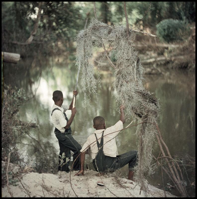 Gordon Parks, 'Untitled, Shady Grove, Alabama (Boys Fishing 37.048)', 1956, Photography, Archival digital pigment print, Robert Klein Gallery