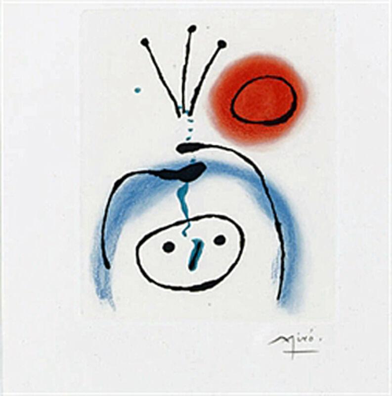 Joan Miró, 'Suite La Bague D'Aurore - plate 1', 1957, Print, Etching, Galerie Maximillian