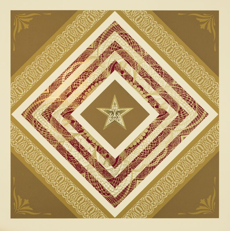 Shepard Fairey, 'Power and Glory III', 2014, Print, Silkscreen and gold foil block on Somerset Tub sized 410gsm. Signed and numbered by the artist., Paul Stolper Gallery