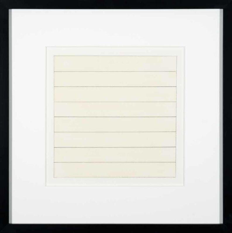 Agnes Martin, 'Untitled X', 1991, Print, Lithograph on vellum transparency paper, Addison Rowe Gallery