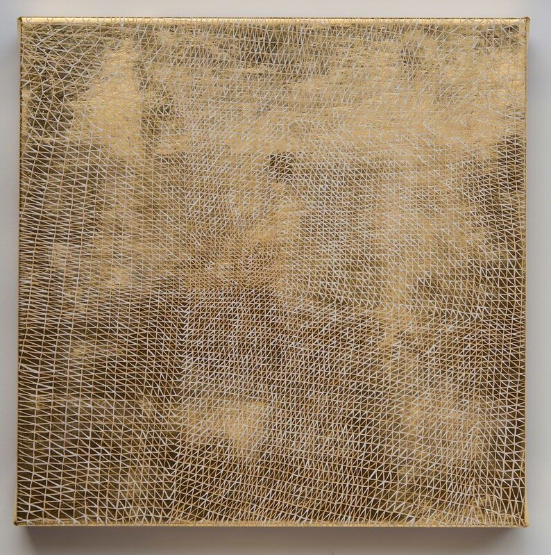 Sam Messenger, 'Among Sheaves', 2019, Painting, Oil, 24K gold leaf, clay bole and gesso on linen, Davidson
