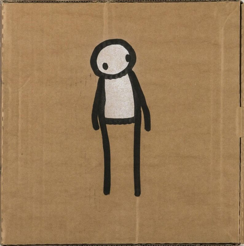 Stik, 'Original Pizza Box', 2011, Drawing, Collage or other Work on Paper, Felt tip pen & white paint on carboard, Graffik Gallery Limited