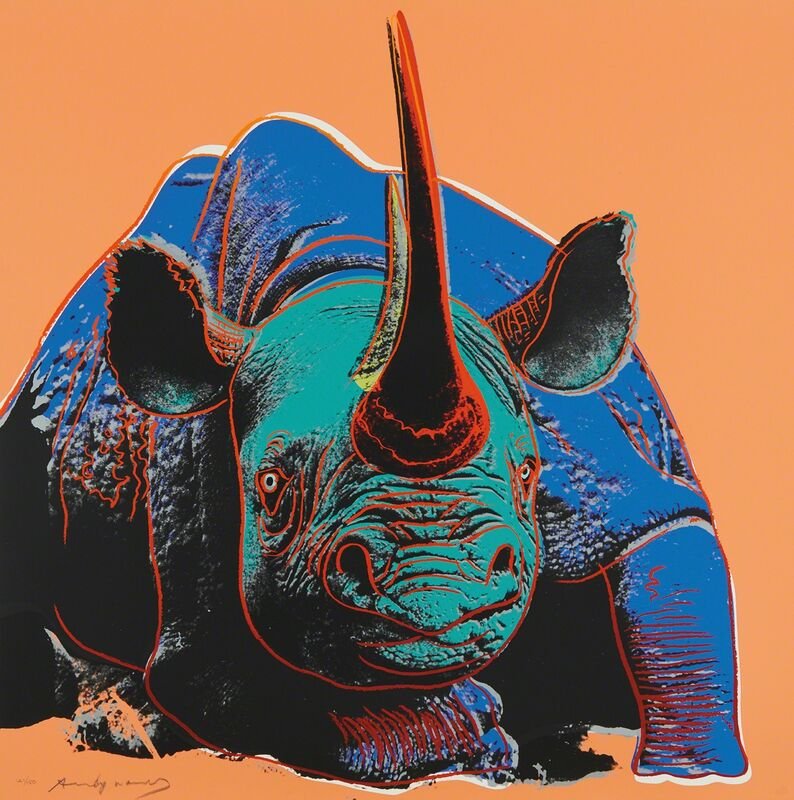 Andy Warhol, 'Black Rhino, from Endangered Species', 1983, Print, Screenprint in colors, on Lenox Museum Board, the full sheet., Phillips