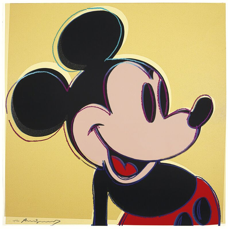 Andy Warhol, 'Mickey Mouse, from Myths', 1981, Print, Unique screenprint with diamond dust in colors, on Lenox Museum Board, Christie's