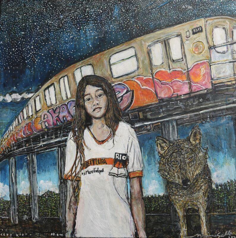 Marjorie Scholl, 'Ak. Ace', 2020, Painting, Acrylic on Canvas, McVarish Gallery