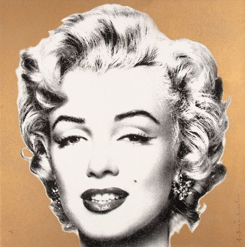 Mr. Brainwash, 'Diamond Girl (Gold)', 2016, Print, Screenprint in colors with diamond dust on Archival Art paper, Heritage Auctions