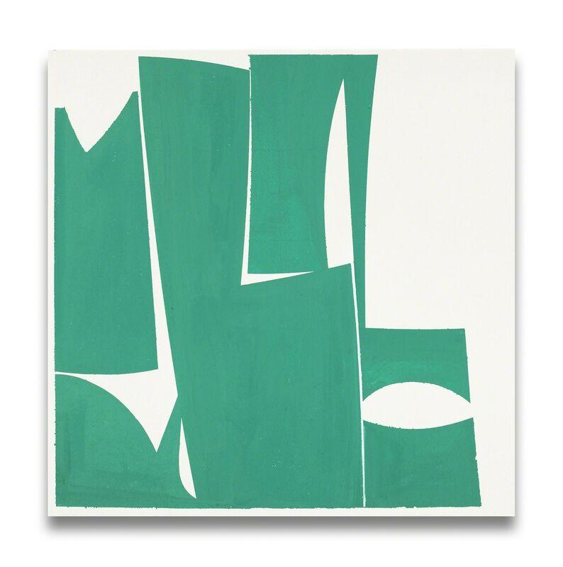 Joanne Freeman, 'Covers 24-Green A (Abstract painting)', 2015, Painting, Gouache on handmade Khadi paper, IdeelArt