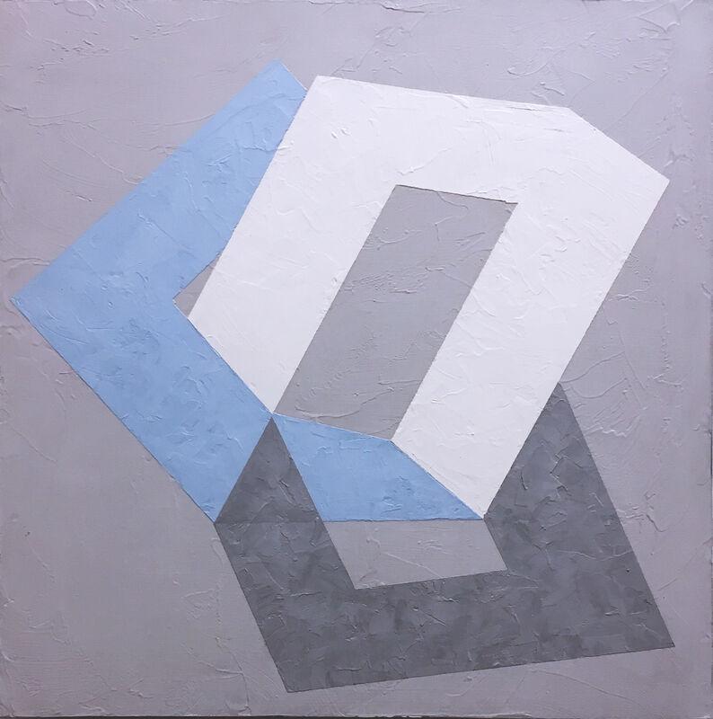Kati Vilim, 'Options II', 2019, Painting, Plaster and acrylic on wood panel, Deep Space Gallery
