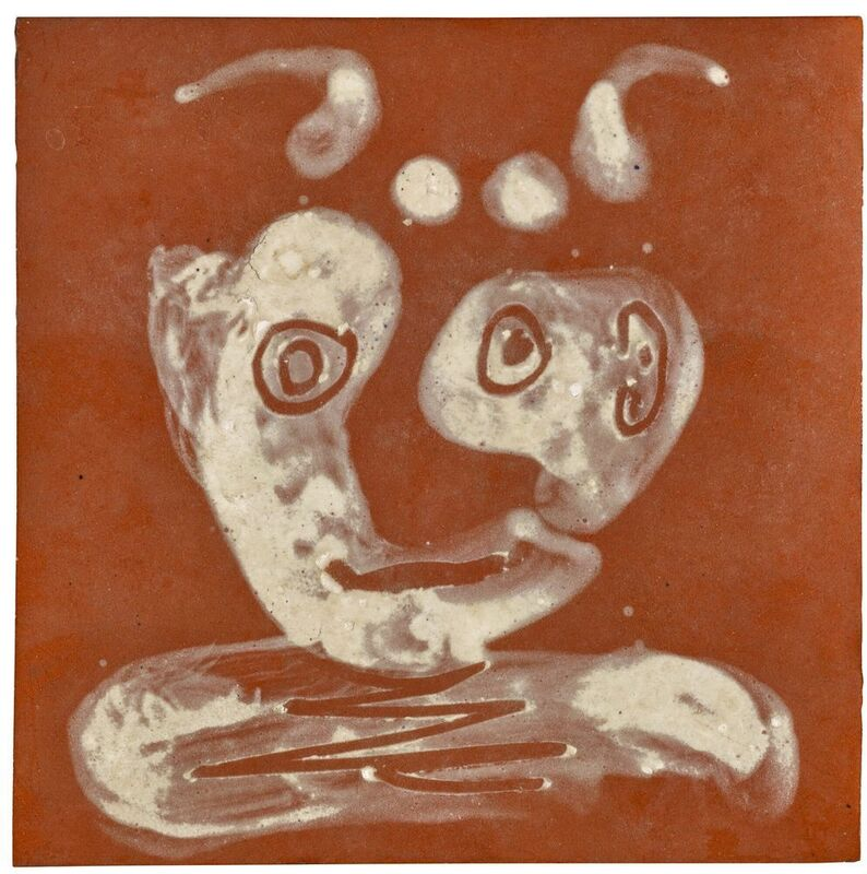 Pablo Picasso, 'Tête de faune', 1961, Sculpture, Red terracotta tile, painted and glazed white, BAILLY GALLERY