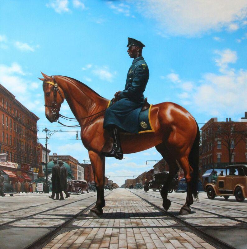 Kadir Nelson, 'Harlem Equus', 2014, Painting, Oil on canvas, RJD Gallery