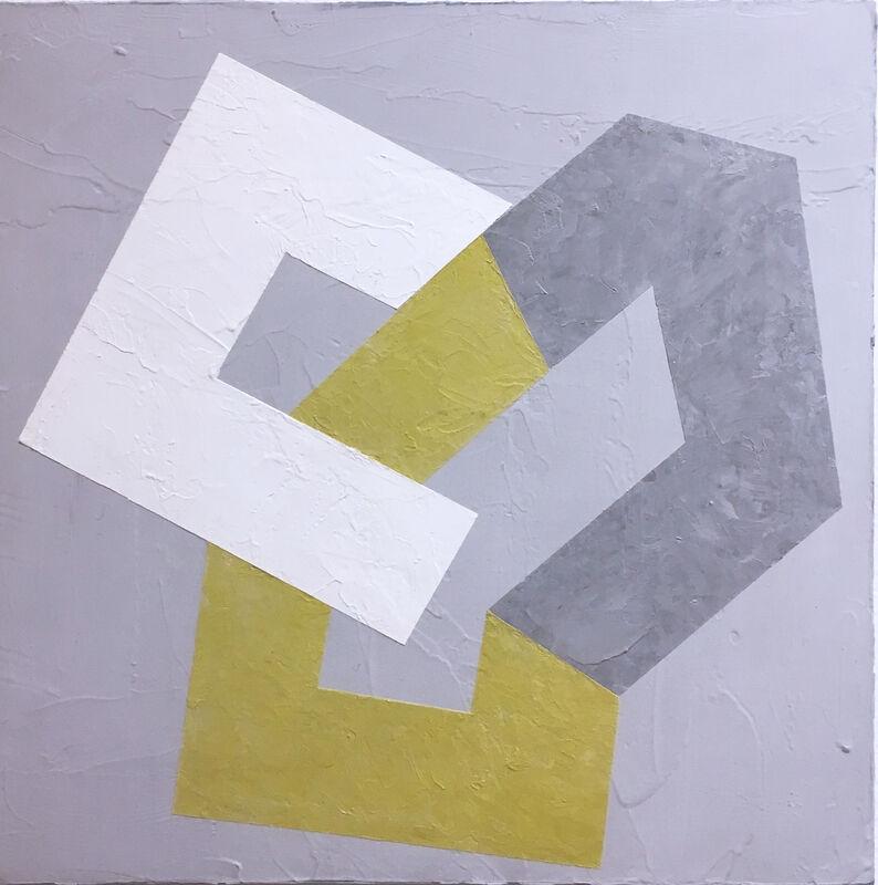 Kati Vilim, 'Options IX', 2019, Painting, Plaster and acrylic on wood panel, Deep Space Gallery