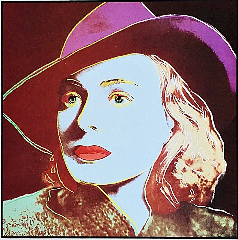 Andy Warhol, ' Ingrid Bergman ', 1987, Ephemera or Merchandise, Special Limited Edition Color Offset Lithograph for Art Basel, mounted and unframed, Alpha 137 Gallery