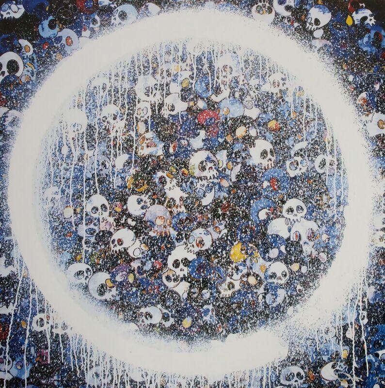 Takashi Murakami, 'Enso: Memento Mori Red on Blue', 2015, Print, Offset Lithograph, Pinto Gallery
