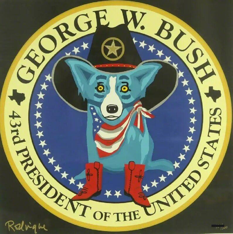 George Rodrigue, 'George W. Bush Presidential Seal Blue Dog', 2001, Print, Silkscreen, Modern Artifact