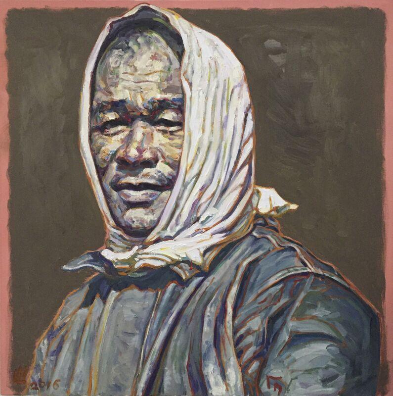 Hung Liu 刘虹, 'Laborer: Filipino Field Hand', 2016, Painting, Oil on canvas, Turner Carroll Gallery