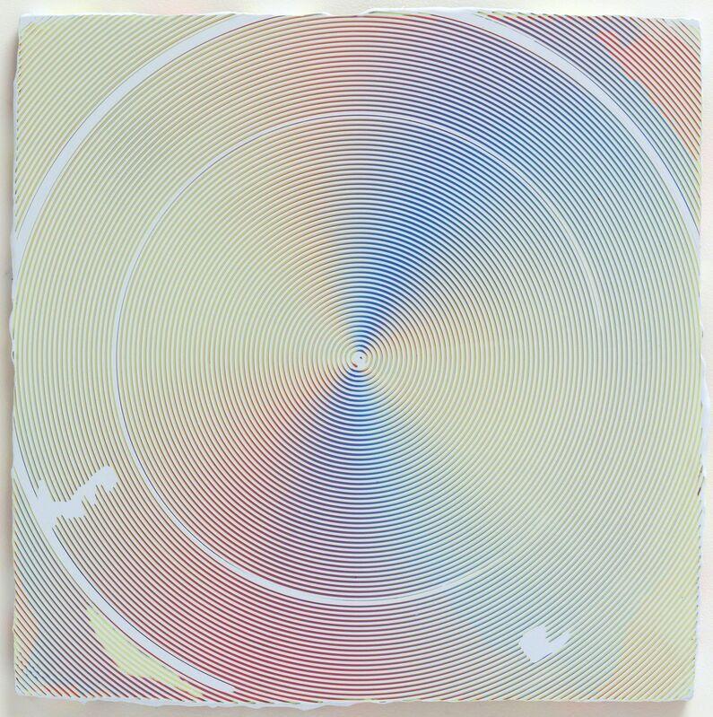 Anoka Faruqee, '2018P-04', 2018, Painting, Acrylic on linen on panel, Hosfelt Gallery