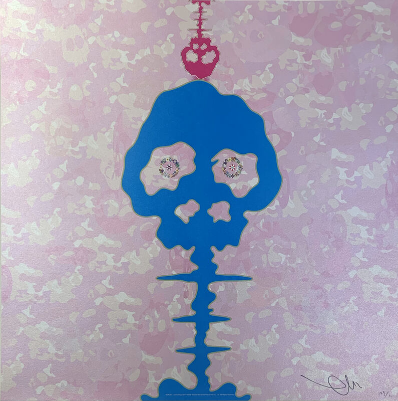 Takashi Murakami, 'Time Bokan-Camouflage pink', 2009, Print, Offset lithography, Art Works Paris Seoul Gallery