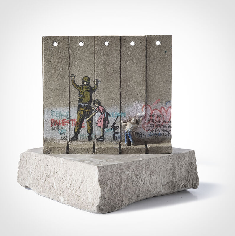Banksy, 'Walled Off Hotel - Five Part Souvenir Wall Section (Stop And Search)', Sculpture, Hand-painted resin sculpture with West Bank Separation Wall base, Tate Ward Auctions