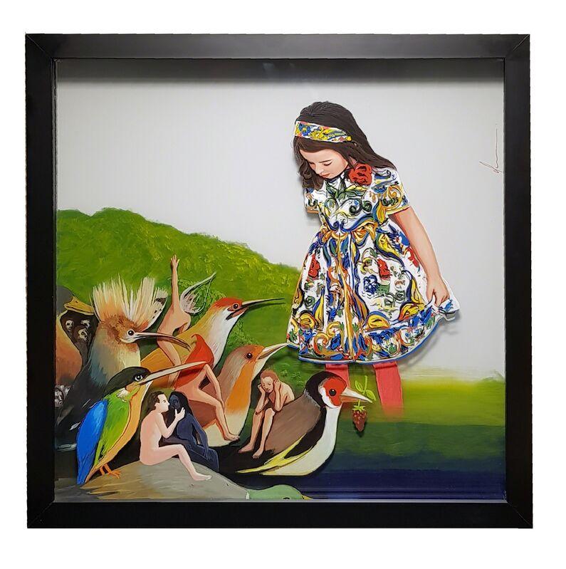 Yosman Botero, 'Common things 179 :EL BOSCO', 2018, Mixed Media, Acrylic paint on glass, RoFa Projects