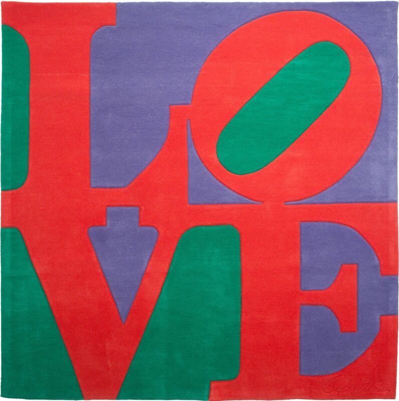Robert Indiana, 'Chosen Love', ca. 1995, Mixed Media, Skein dyed, hand carved and hand tuften archival New Zealand wool on stretched canvas with natural latex backing, Heritage Auctions