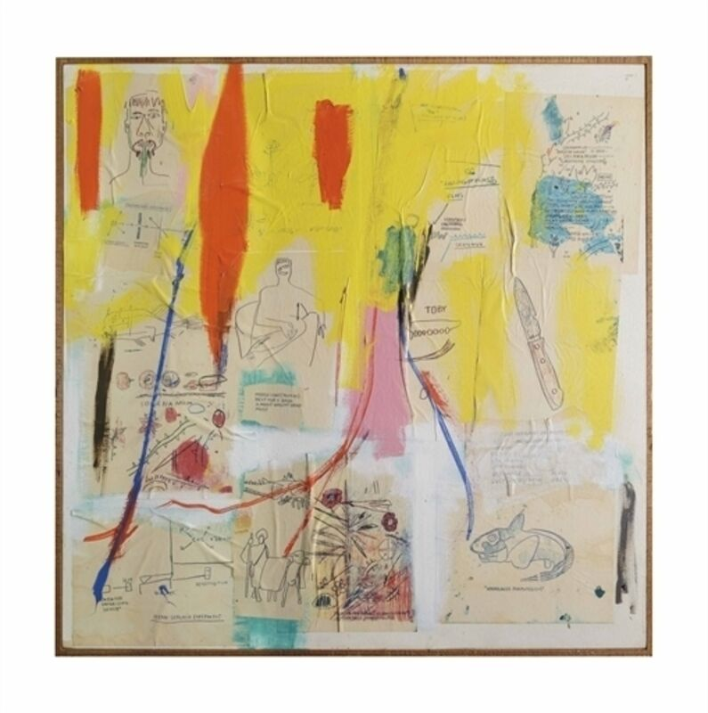 Jean-Michel Basquiat, 'Untitled', Acrylic and Xerox collage on canvas, Christie's
