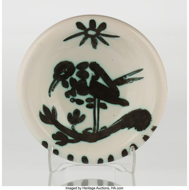 Pablo Picasso, 'Oiseau au soleil (A./R/ 174)', 1952, Other, White earthenware ceramic with handpainting, Heritage Auctions