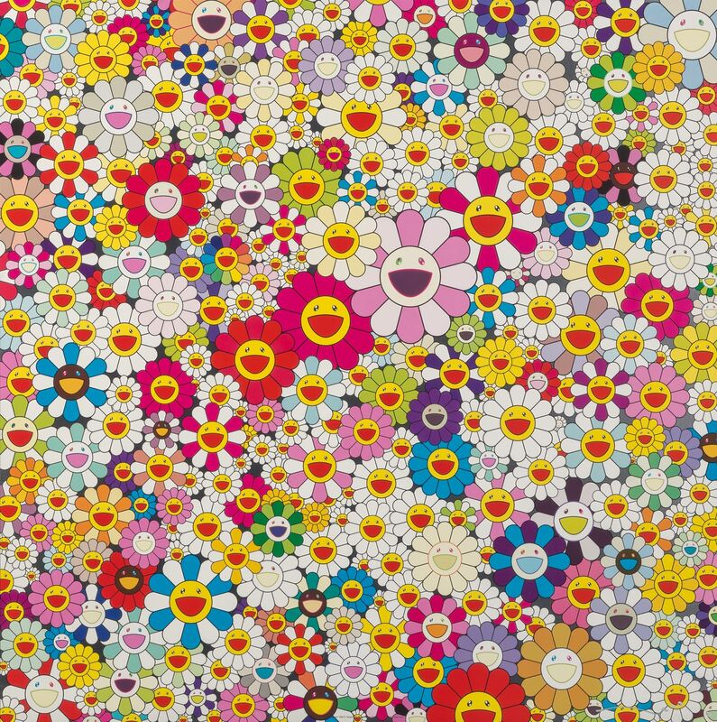 Takashi Murakami, 'Flowers in Heaven', 2010, Print, Offset lithograph in colors on satin wove paper, Heritage Auctions