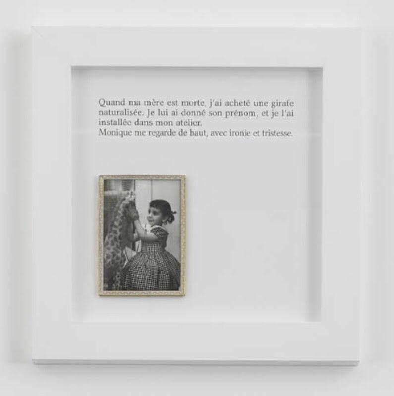 Sophie Calle, 'La Girafe / The Giraffe', 2012, Photography, Color photograph, aluminum, text, frames, Perrotin