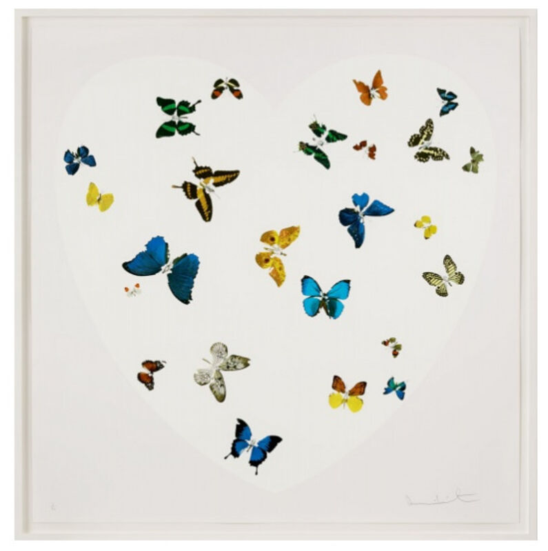 Damien Hirst, 'Love Is All You Need', 2016, Print, Silkscreen. Framed., The Drang Gallery