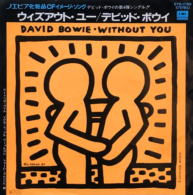 Keith Haring, 'Keith Haring 1980s record album art (Keith Haring David Bowie)', 1983, Print, Offset lithograph on vinyl record cover, Lot 180