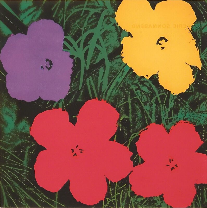 Andy Warhol, 'Flowers Invitation', Print, Offset lithograph in colors (framed), Rago/Wright