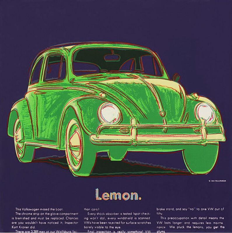 Andy Warhol, 'ADS: VOLKSWAGEN FS II.358', 1985, Print, Screenprint on Lenox museum board, Marcel Katz Art