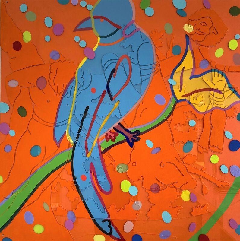 Barbara Strasen, 'Bird Goya', 2015, Painting, Original Painting Layered with Plexiglass on Wood, Ethos Contemporary Art