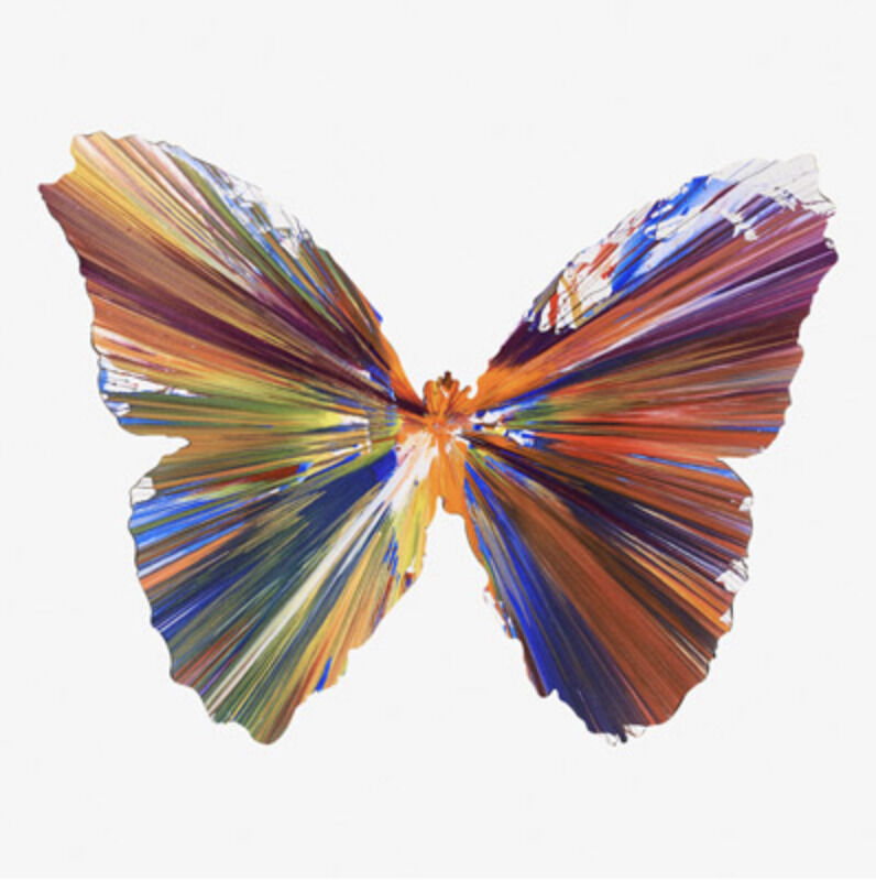 Damien Hirst, 'Butterfly Spin Painting', 2009, Painting, Mixed media on paper, Eternity Gallery