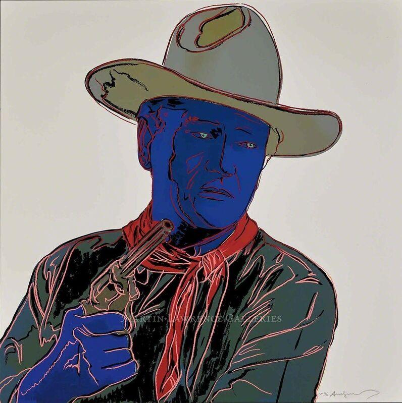Andy Warhol, 'John Wayne, 1986 (#377, Cowboys & Indians)', 1986, Print, Martin Lawrence Galleries
