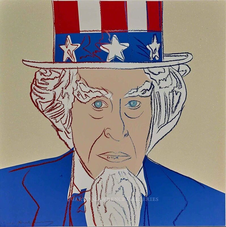 Andy Warhol, 'Uncle Sam, 1981 (#259, Myths)', 1981, Print, Unique trial-proof hand-signed screenprint with diamond dust, Martin Lawrence Galleries
