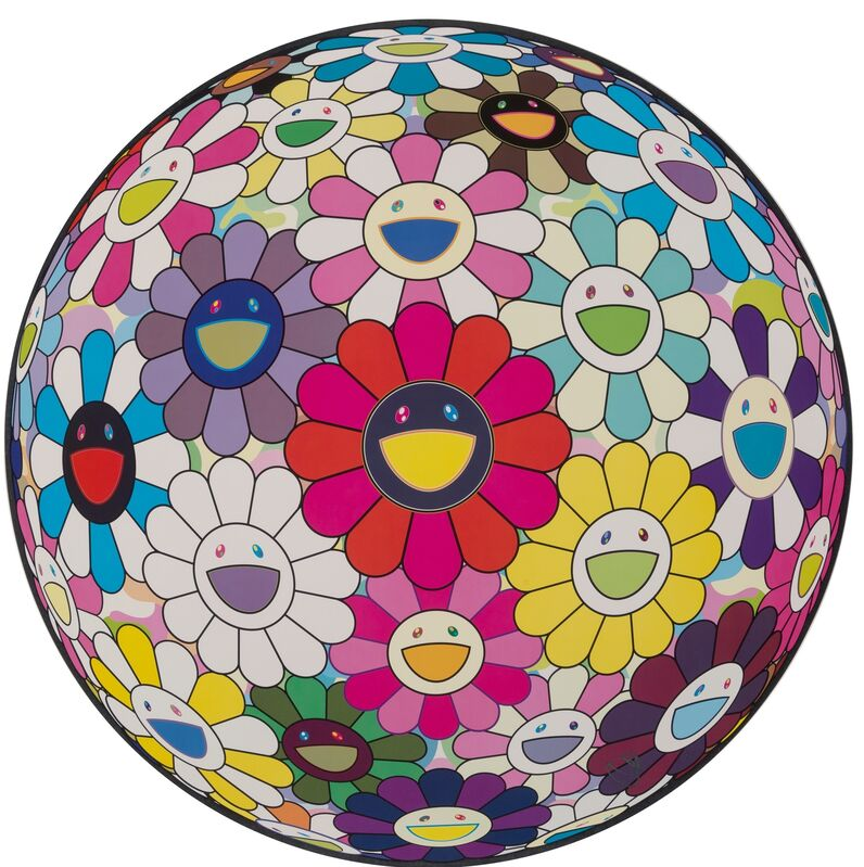 Takashi Murakami, 'Flowerball: Open Your Hands Wide', 2015, Print, Offset lithograph in colors on satin wove paper, Heritage Auctions