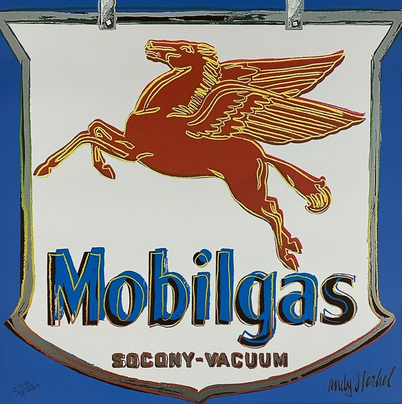 Andy Warhol, 'Mobilgas (Blue)', 1986, Print, Offset lithograph on heavy paper, Samhart Gallery