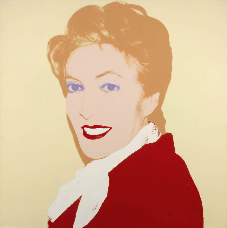 Andy Warhol, 'Portrait of Bronka Weintraub', 1986, Painting, Acrylic and ink printing on canvas, Tornabuoni Art