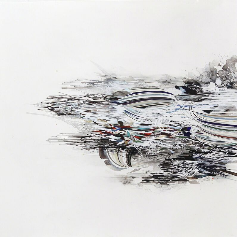 Reed Danziger, 'disaggregation', 2014, Drawing, Collage or other Work on Paper, Graphite, ink, watercolor and gouache on paper, Hosfelt Gallery