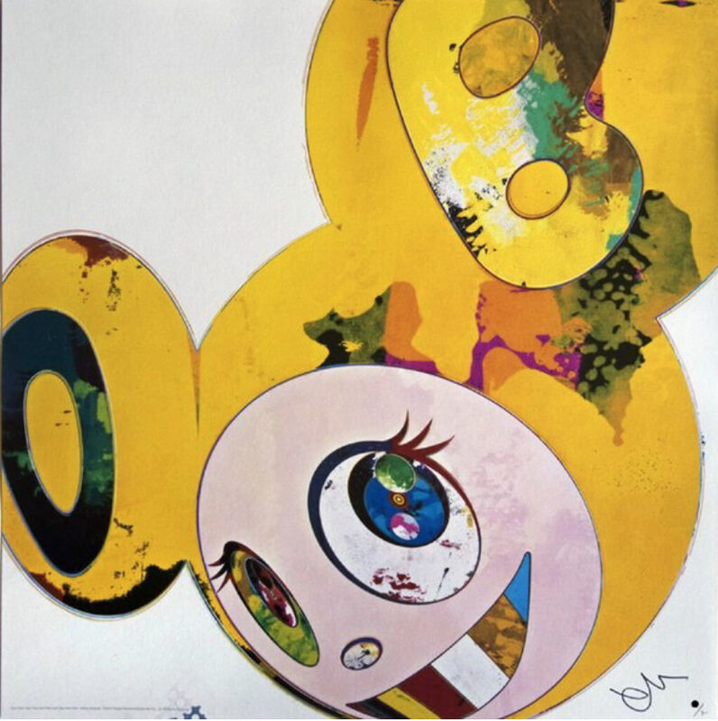 Takashi Murakami, 'AND THEN x6 (YELLOW UNIVERSE)', 2006, Print, Lithograph in color on cotton wove paper with hot stamp, Marcel Katz Art