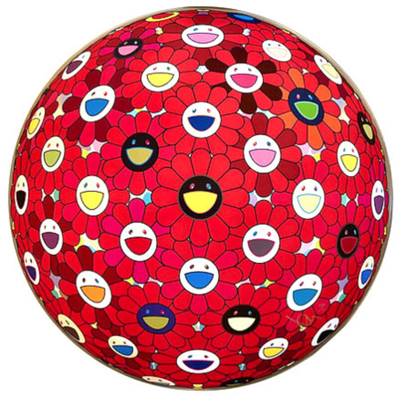 Takashi Murakami, 'Flowerball: Bright Red', 2017, Print, Offset lithograph, Vogtle Contemporary