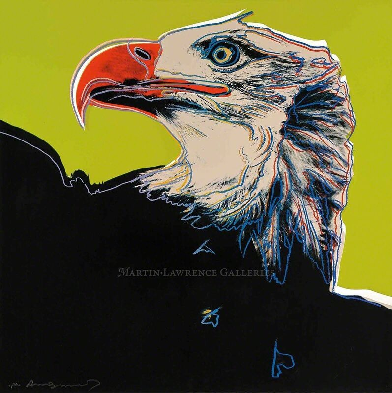 Andy Warhol, 'Bald Eagle, 1983 (#296, Endangered Species)', 1983, Print, Unique trial-proof hand-signed screenprint, Martin Lawrence Galleries